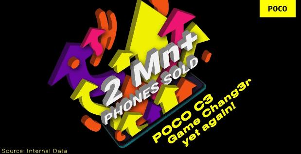Продажи POCO C3 в Индии превышают 2 миллиона единиц