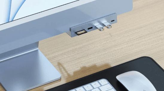 Satechi запускает новый концентратор с зажимом USB-C для iMac M1