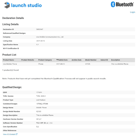 Vivo X70 Pro получил сертификаты Bluetooth SIG и IMDA