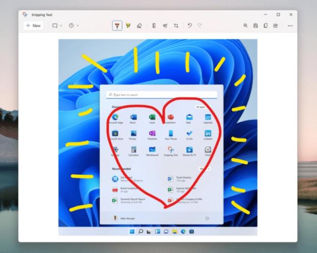 Microsoft Windows 11 получит новый инструмент Snipping и обновления приложений