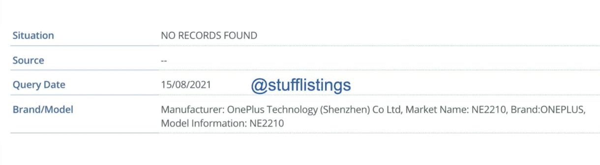 Предстоящий смартфон OnePlus появился в базе IMEI