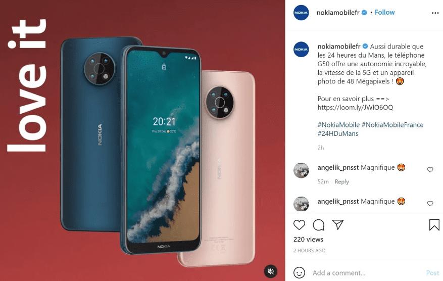 Стал известен предстоящий дизайн Nokia G50 5G