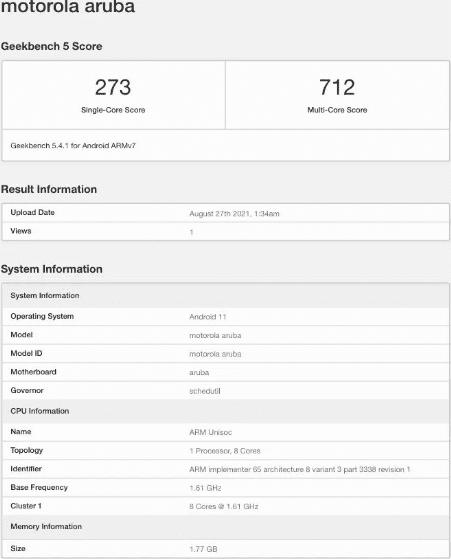Moto E20 появился Geekbench и раскрыл чип Unisoc
