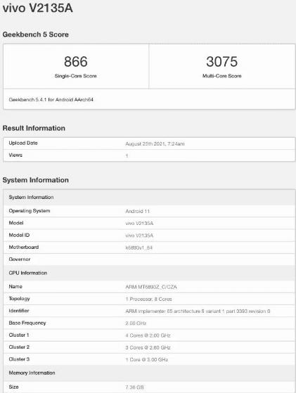 Vivo X70t Pro замечен на Geekbench