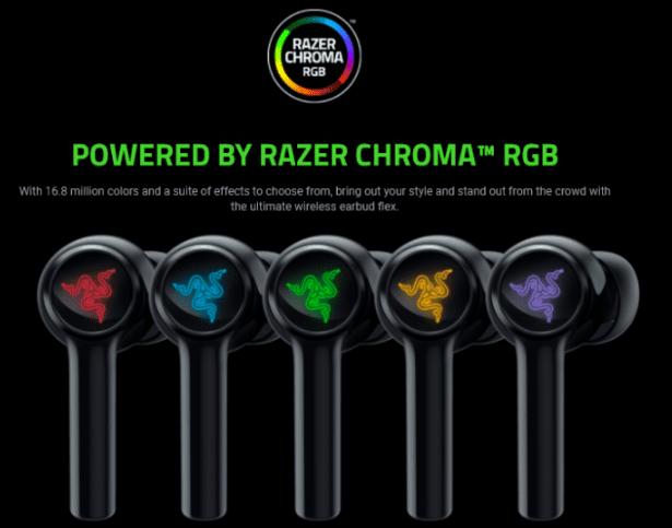 Наушники Razer Hammerhead TWS с подсветкой ANC и RGB выпущены за 130 долларов