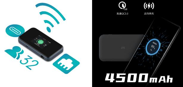 Портативный маршрутизатор ZTE 5G Wi-Fi 6 будет иметь сенсорный экран и порт Ethernet