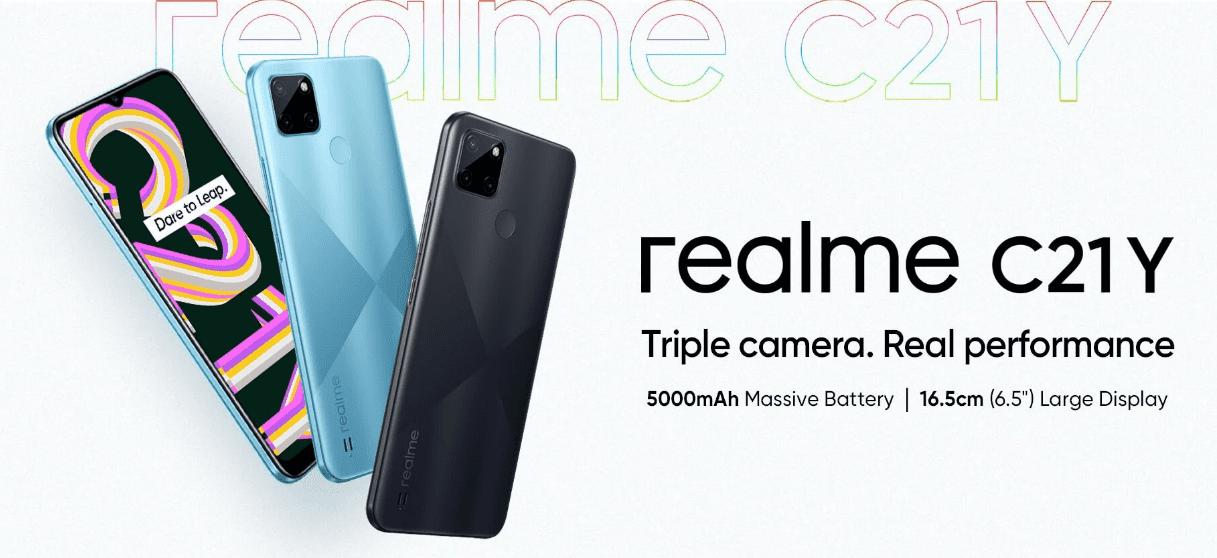 Дата запуска Realme C21Y для Индии подтверждена