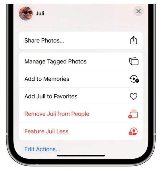 iOS 15: как сделать так, чтобы приложение «Фото» реже показывало человека