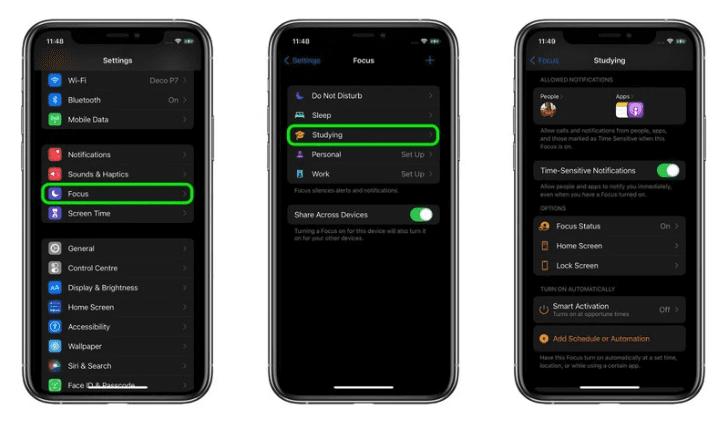 iOS 15: как создать фокус