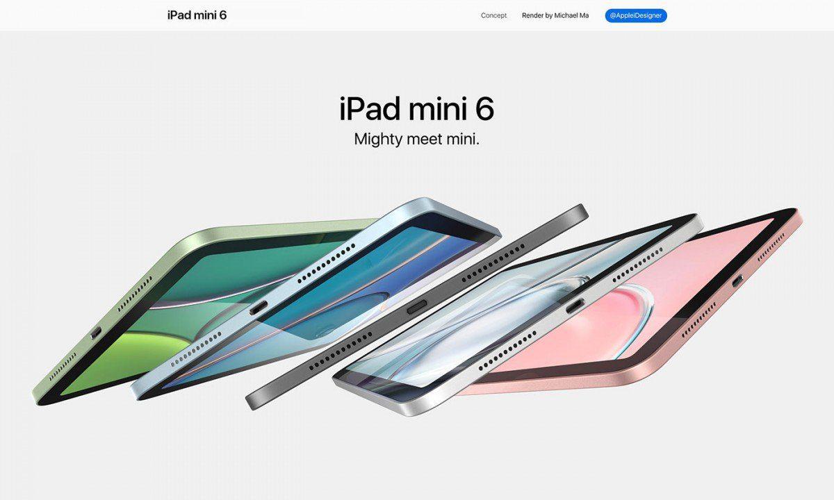 Рендеры Apple iPad mini 6 показали новые цветовые решения и спецификации