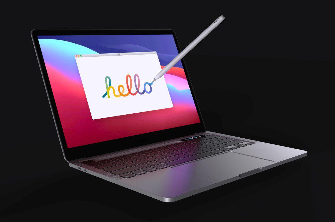 Концепция Apple MacBook Pro заменит сенсорную панель на док-станцию Pencil
