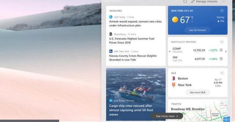 Как убрать погоду с панели задач Windows 10?