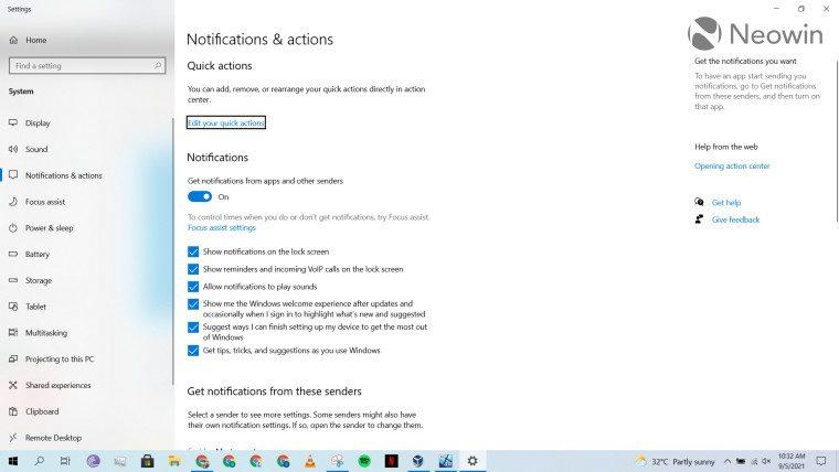 Обзор: быстрые настройки и уведомления в Windows 11