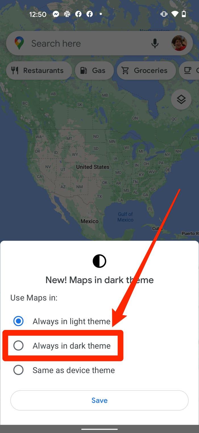 Как включить темный режим в Google Maps на iPhone или Android