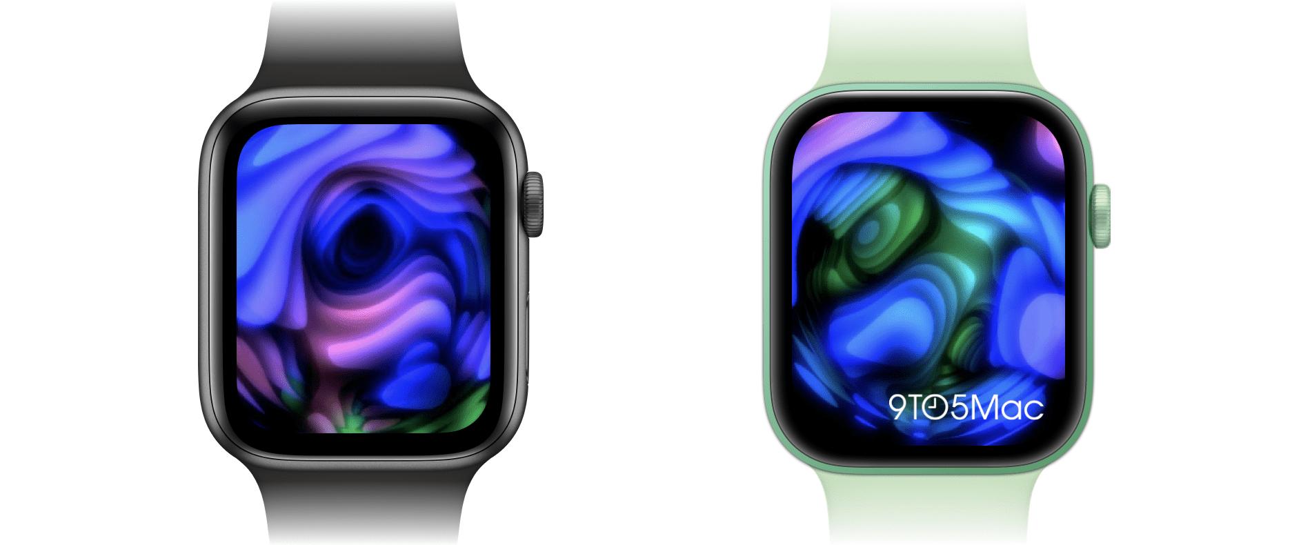 В Сеть попали размеры дисплеев Apple Watch и их внешний вид с помощью этих макетов