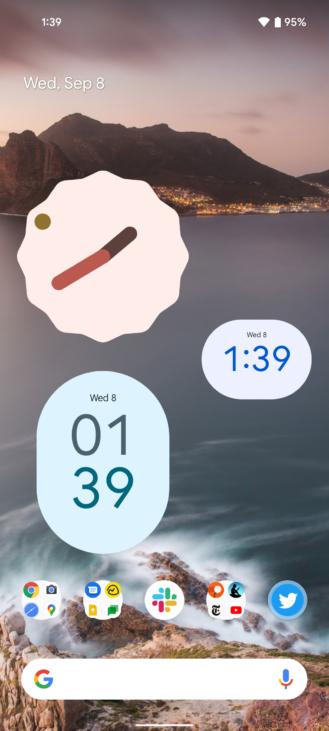 Android 12 представляет новые красивые виджеты Material You Clock