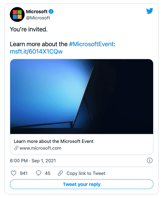 Microsoft представит новое оборудование Surface 22 сентября