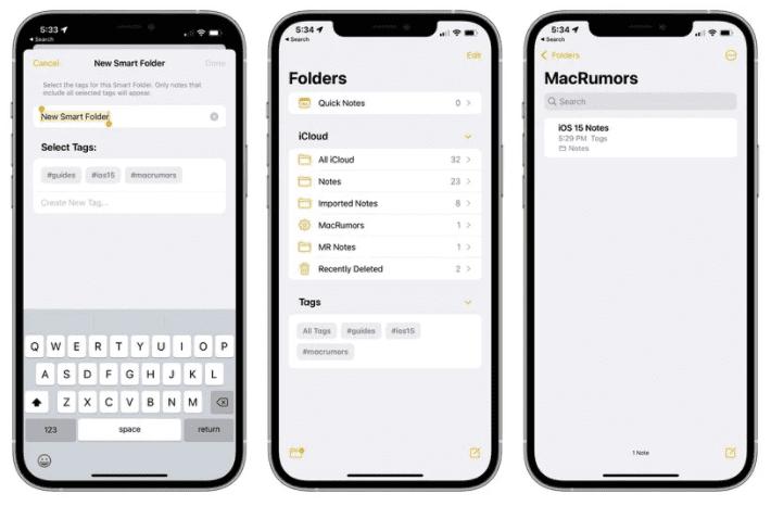 Новые функции в приложениях «Заметки» и «Напоминания» в iOS 15
