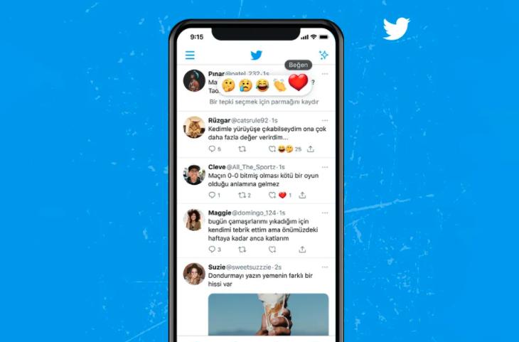 Twitter тестирует реакцию смайлов на твиты