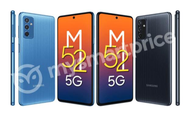 Дизайн Samsung Galaxy M52 5G раскрыт на рендерах