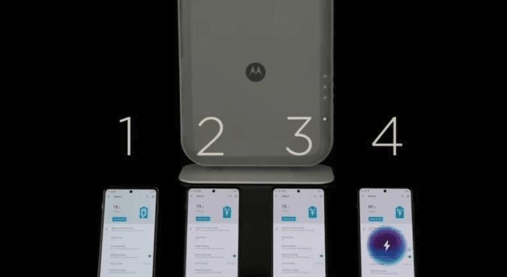 Беспроводная технология Motorola Space Charging позволяет заряжать четыре устройства одновременно
