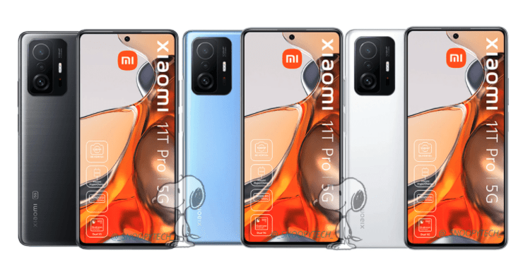 Перед запуском появились новые рендеры Xiaomi 11T и 11T Pro