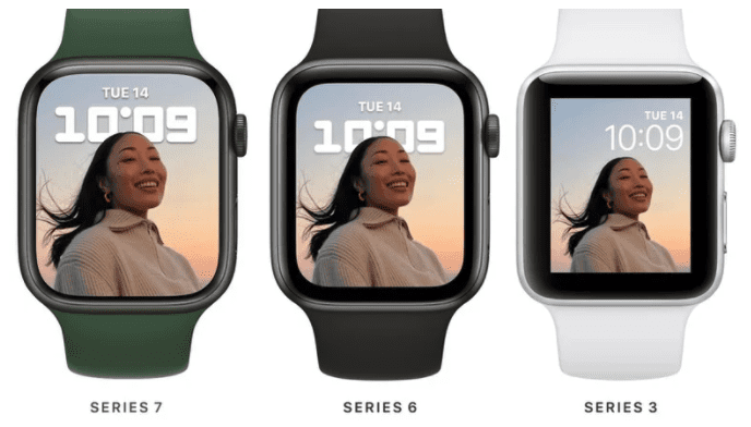 Apple Watch Series 7 появятся в размерах корпуса 41 мм и 45 мм, будут совместимы со старыми ремешками