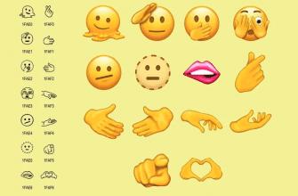 Следующие Emojis будут включать в себя тающее лицо, кусающую губу, руки в форме сердца и другое