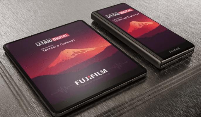 Fujifilm запатентовала складной телефон, напоминающий Samsung Galaxy Fold