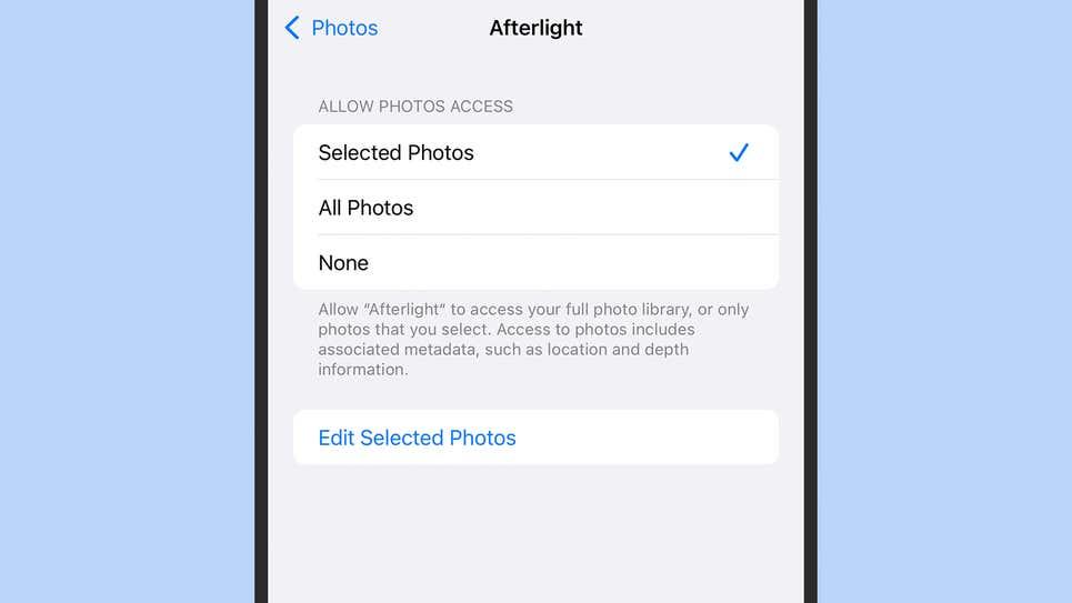 Как заблокировать разрешения для приложений iPhone