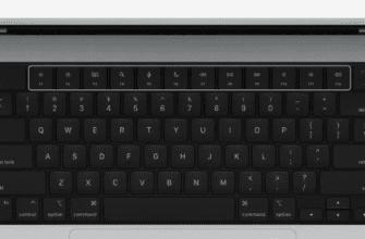 Новая клавиатура MacBook Pro имеет полностью черный дизайн, полноразмерные функциональные клавиши и кольцо Touch ID