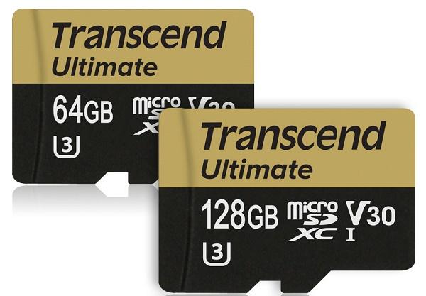 карты памяти microSD, соответствующие стандарту Ultimate UHS-I U3M Video Speed Class 30
